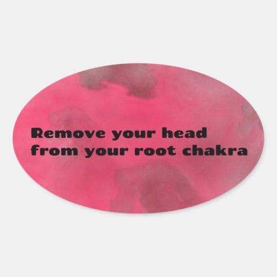 Root Chakra Oval Sticker