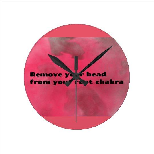 Root Chakra Round Clock
