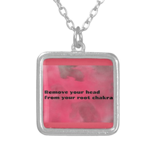 Root Chakra Silver Plated Necklace