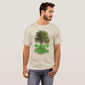 """Root for Trees"" light shirt"