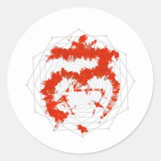 Root Muladhara Red Symbol Sticker