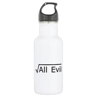 Root of All Evil - Math Humor / Math Geek 532 Ml Water Bottle