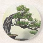 Root Over Rock Pine Bonsai Tree Coaster