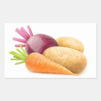 Root vegetables sticker