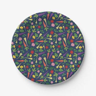 Root Veggie Medley Paper Plate
