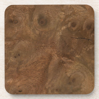 Root wood texture drink coaster