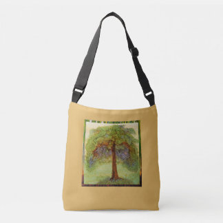 """Rooted"" - Alcohol Ink Art Print Crossbody Bag"