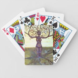 """Rooted"" Tree Goddess Fantasy Art Poker Deck"