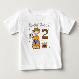 Rootin' Tootin' 2 Year Old Cowboy T-shirt