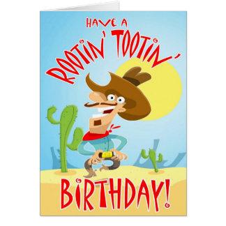 Rootin' Tootin' Birthday card