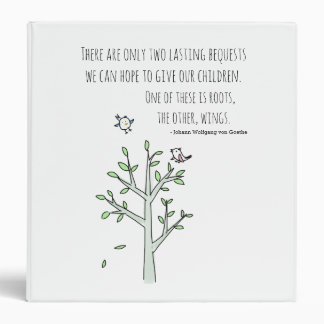 Roots and Wings Inspiring Parenting Quote 3 Ring Binders