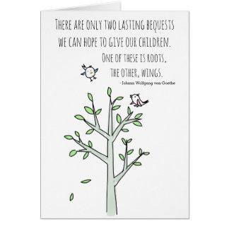 Roots and Wings Inspiring Parenting Quote Card
