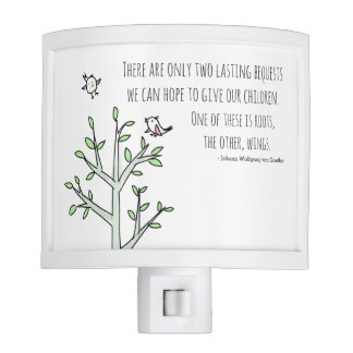 Roots and Wings Inspiring Parenting Quote Nite Lite
