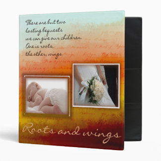 Roots and wings - scrapbook / memory book vinyl binders