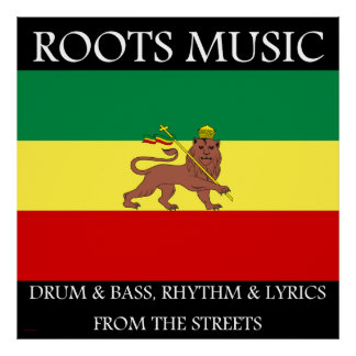 Roots Music, Reggae Music Canvas Print 40 in by 40