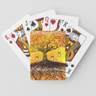 Roots of Love Romantic Rustic Tree Wedding Playing Cards