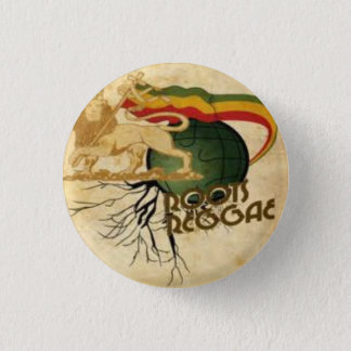 Roots Rasta plates 1 Inch Round Button