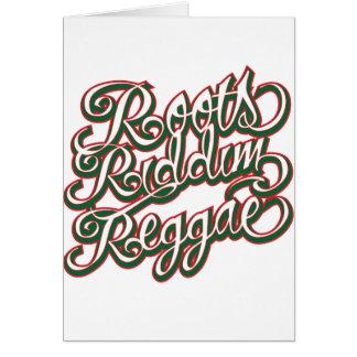 Roots Riddim Reggae Card
