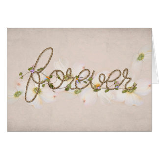 rope design forever text for wedding card
