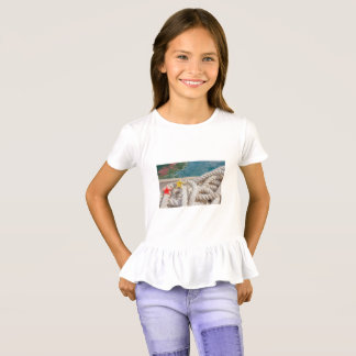 rope for mooring on Girls' Ruffle T-Shirt