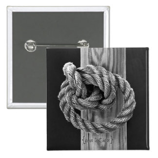 Rope Knot 2 Inch Square Button
