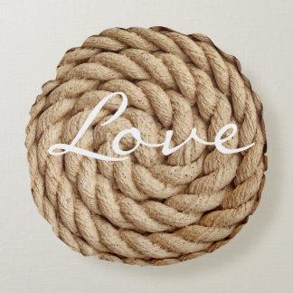 Rope love round pillow
