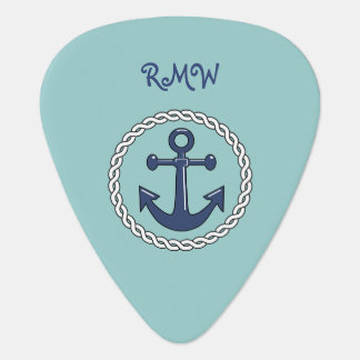 Rope n Anchor Monogrammed Guitar Pick