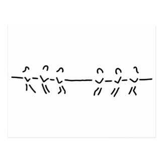rope-pull rope-pull team postcard