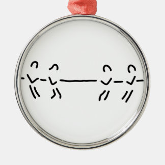 rope-pull rope-pull team Silver-Colored round ornament