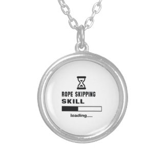 Rope Skipping skill Loading...... Silver Plated Necklace