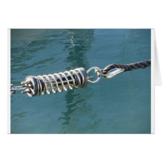 Rope sling with safety anchor shackle card