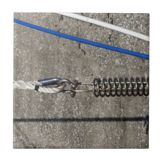 Rope sling with safety anchor shackle ceramic tiles
