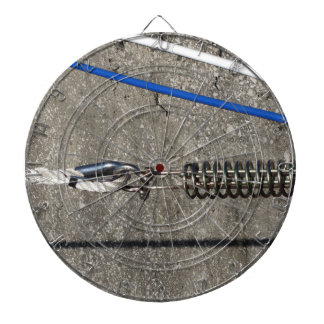 Rope sling with safety anchor shackle dartboard
