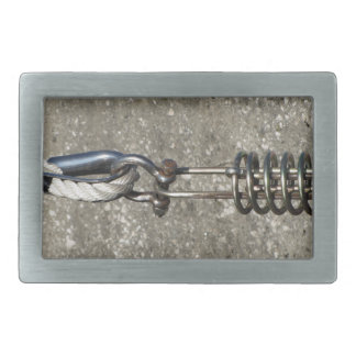 Rope sling with safety anchor shackle rectangular belt buckles