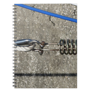Rope sling with safety anchor shackle spiral note book