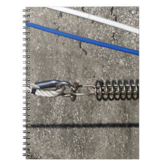 Rope sling with safety anchor shackle spiral notebook