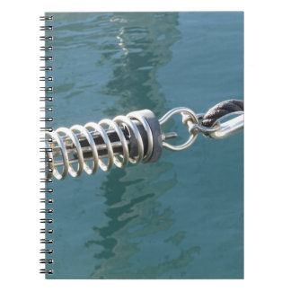 Rope sling with safety anchor shackle spiral notebooks