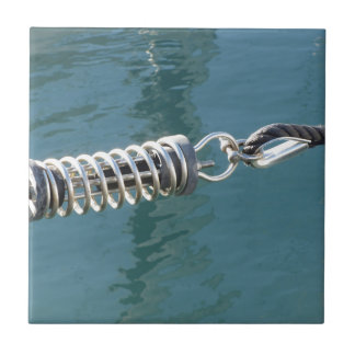 Rope sling with safety anchor shackle tile
