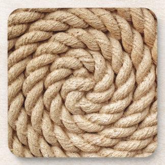 rope, target circle design round mark coaster