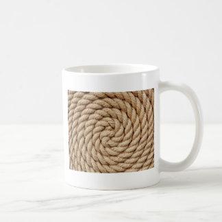 rope, target circle design round mark coffee mug