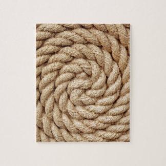 rope, target circle design round mark jigsaw puzzle