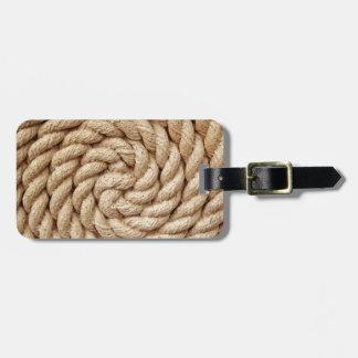rope, target circle design round mark luggage tag