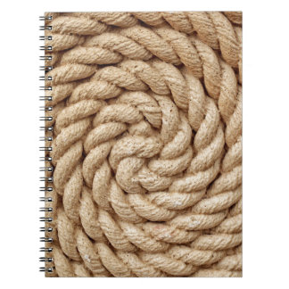 rope, target circle design round mark notebook