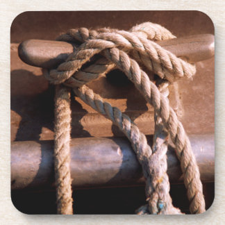Rope Tied To A Boat Tie Coaster