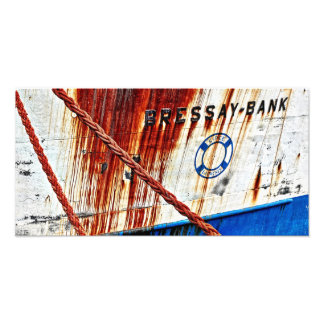 ropes and rusty photographic print