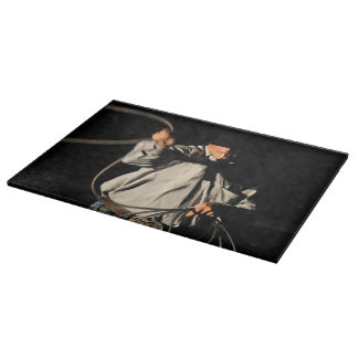 Ropin' Smoke Cutting Board Western Cowboy