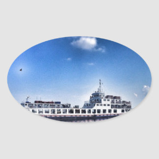RoRo Travels in The hidden Island  of Philippines Oval Sticker
