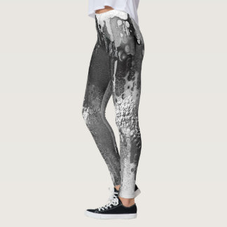 Rorschach. Black, white and grey colors. Leggings
