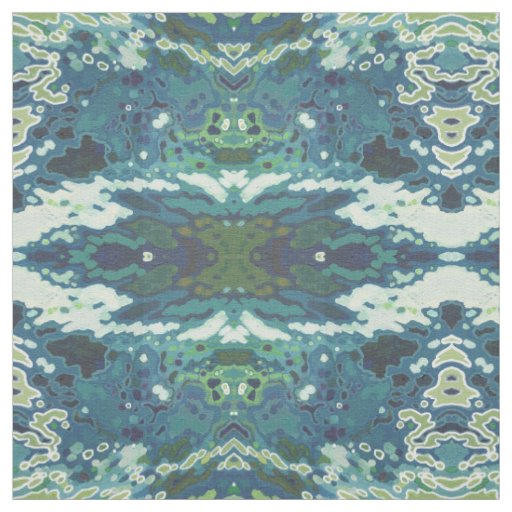 Rorschach Navy & Gold Coastal Fabric by Juul