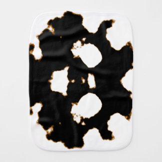 Rorschach Test of an Ink Blot Card in Black and Wh Burp Cloth